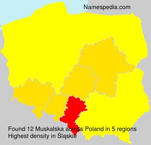Familiennamen Muskalska - Poland