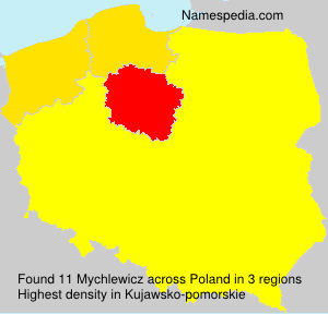 Surname Mychlewicz in Poland