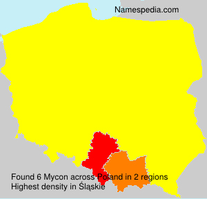 Surname Mycon in Poland