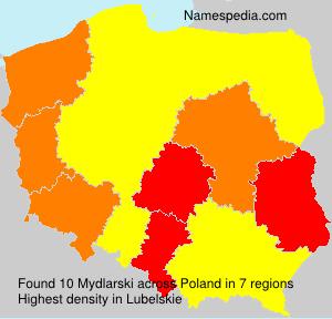 Surname Mydlarski in Poland