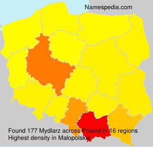 Surname Mydlarz in Poland