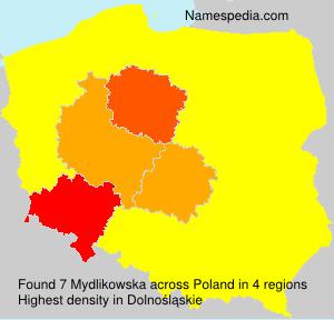 Surname Mydlikowska in Poland