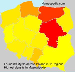 Surname Mydlo in Poland