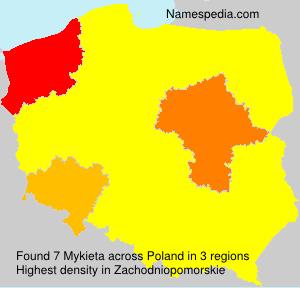 Surname Mykieta in Poland