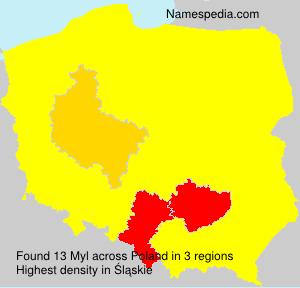 Surname Myl in Poland