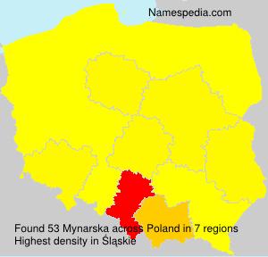 Surname Mynarska in Poland