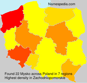 Surname Mysko in Poland