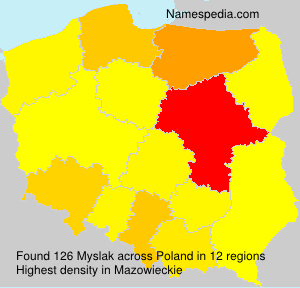 Surname Myslak in Poland