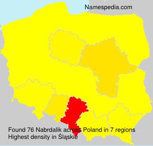 Surname Nabrdalik in Poland