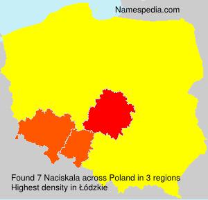 Surname Naciskala in Poland