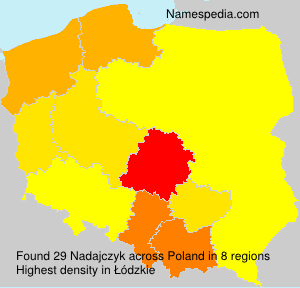 Surname Nadajczyk in Poland
