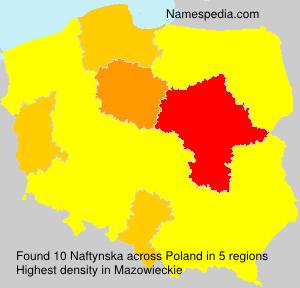 Familiennamen Naftynska - Poland