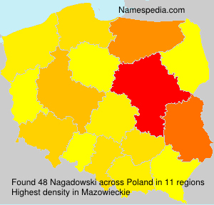 Surname Nagadowski in Poland