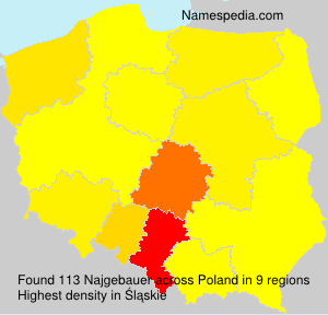 Surname Najgebauer in Poland
