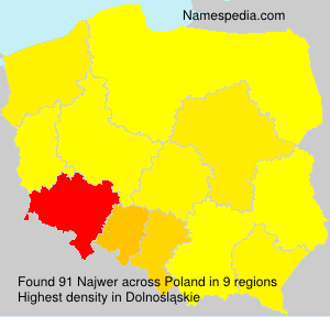 Surname Najwer in Poland