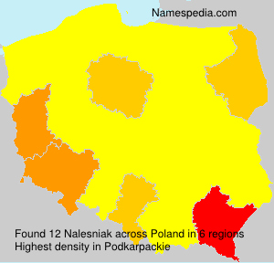 Surname Nalesniak in Poland