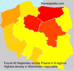 Surname Napierska in Poland