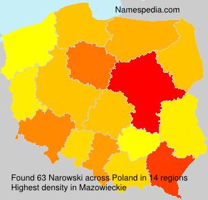 Surname Narowski in Poland