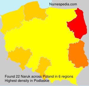 Surname Naruk in Poland