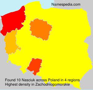 Surname Nasciuk in Poland