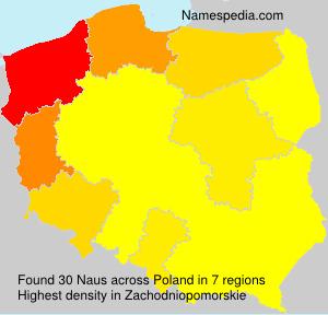 Surname Naus in Poland