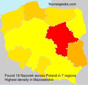 Familiennamen Nazorek - Poland