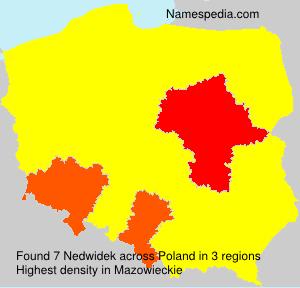 Familiennamen Nedwidek - Poland