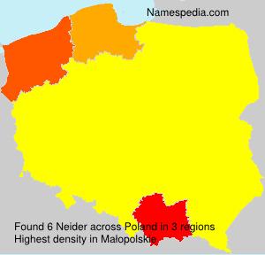 Surname Neider in Poland