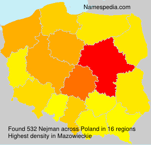 Surname Nejman in Poland