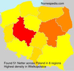 Familiennamen Netter - Poland