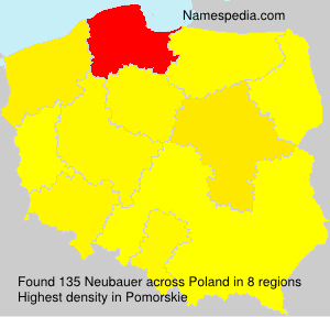 Surname Neubauer in Poland