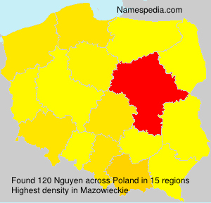 Surname Nguyen in Poland
