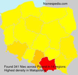 Familiennamen Niec - Poland
