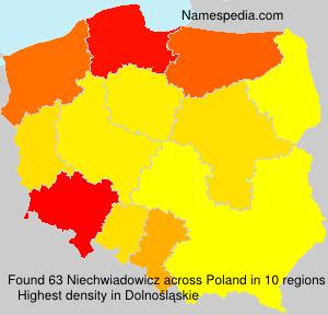Surname Niechwiadowicz in Poland