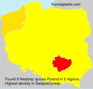 Surname Niedolaz in Poland
