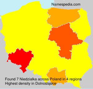Familiennamen Niedzialka - Poland