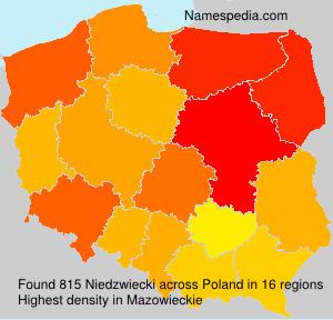 Surname Niedzwiecki in Poland