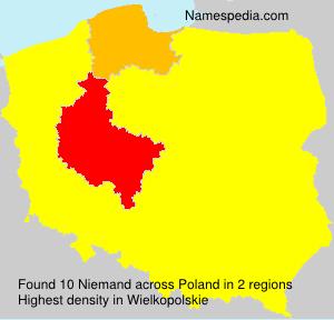 Familiennamen Niemand - Poland