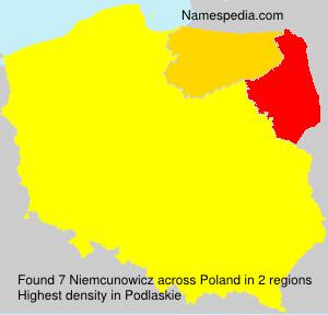 Surname Niemcunowicz in Poland