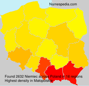 Familiennamen Niemiec - Poland
