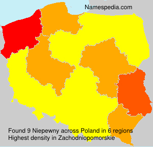 Surname Niepewny in Poland