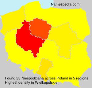 Surname Niespodziana in Poland