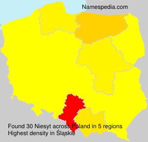 Surname Niesyt in Poland