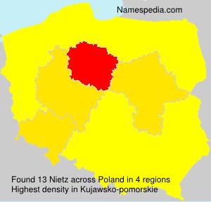 Surname Nietz in Poland
