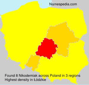 Surname Nikodemiak in Poland