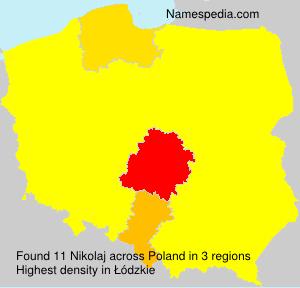 Surname Nikolaj in Poland