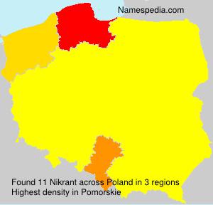 Familiennamen Nikrant - Poland