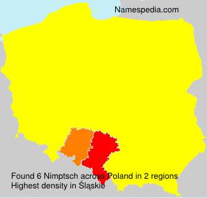 Familiennamen Nimptsch - Poland