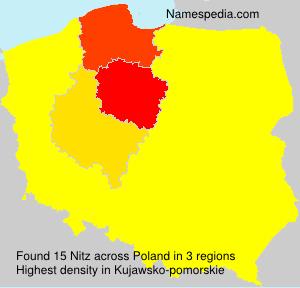 Familiennamen Nitz - Poland