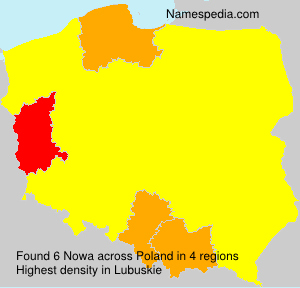 Surname Nowa in Poland